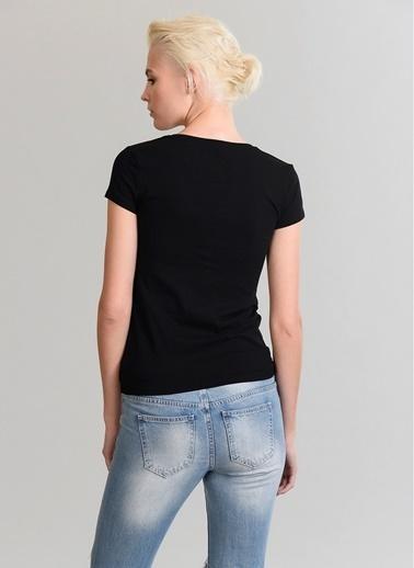 V Yaka T-Shirt-People By Fabrika